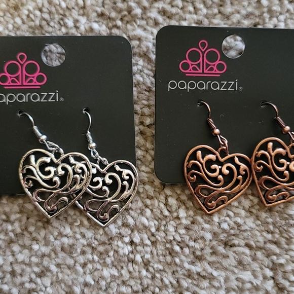 Paparazzi heart earrings (old stock) (3)